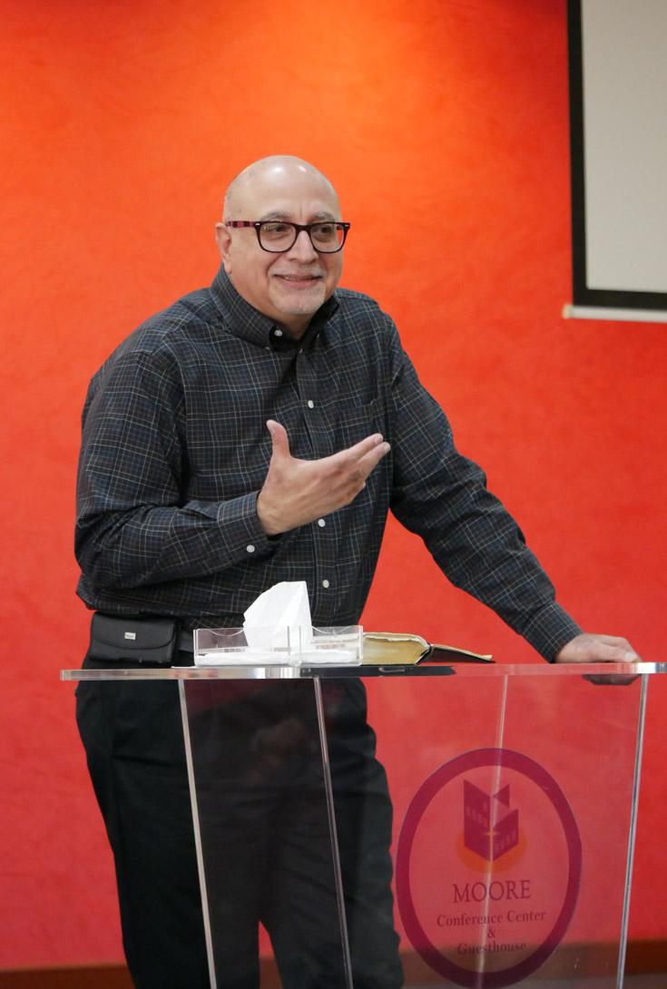 Elie Haddad sharing in chapel